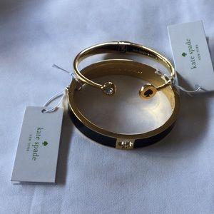 NWT Kate Spade gold & black bracelet set.